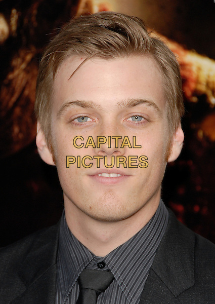 "JAKE ABEL.The Warner Bros. Pictures World Premiere of ""A Nightmare on Elm St."" held at The Grauman's Chinese Theatre in Hollywood, California, USA..April 27th, 2010.headshot portrait black grey gray.CAP/RKE/DVS.©DVS/RockinExposures/Capital Pictures."