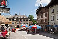 Deutschland, Bayern, Oberbayern, Berchtesgadener Land, Berchtesgaden, Blick zum Marktplatz | Germany, Bavaria, Upper Bavaria, Berchtesgadener Land, Berchtesgaden, view at market square
