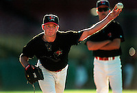 Billy Wagner of the Tucson Toros at Cashman Field in Las Vegas, Nevada during the 1996 season. (Larry Goren/Four Seam Images)