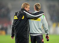 FUSSBALL   1. BUNDESLIGA  SAISON 2011/2012   19. Spieltag   29.01.2012 VfB Stuttgart - Borussia Moenchengladbach    Mike Hanke (li,) mit Marco Reus (Borussia Moenchengladbach)