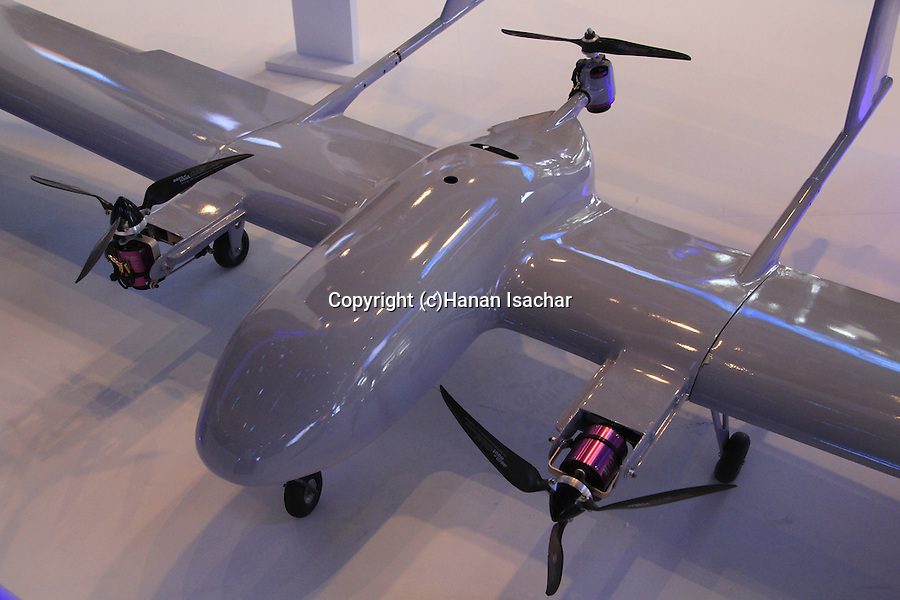 Israel Aerospace Industries (IAI) made Mini Panther uav at the AUS&R (Autonomous, Unmanned Systems & Robotics) 2013 Expo conference and exhibition in Rishon Letzion