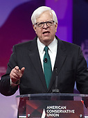 American radio host Dennis Prager speaks at the Conservative Political Action Conference (CPAC) at the Gaylord National Resort and Convention Center in National Harbor, Maryland on Saturday, March 2, 2019.<br /> Credit: Ron Sachs / CNP
