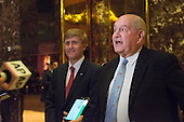 "Former Governor George ""Sonny"" Perdue (Republican of Georgia) speaks with the press following a meeting with United States President-elect Donald Trump at Trump Tower in New York, New York, USA on November 30, 2016. <br /> Credit: Albin Lohr-Jones / Pool via CNP"