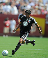 DC United Forward Jaime Moreno.  Real Madrid defeated DC United 3-0 at FedEx Field, Sunday August 9, 2009 in an International Friendly.