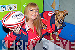 Munster fan Karen O'Connor with her doh peanut is trying to win a trip to the rugby world cup.