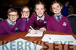 Pupils  from Duagh NS who took part in the Chapter 23 Credit Union Primary School Table quiz at Ballyroe Heights Hotel Tralee on Sunday Nuala Moloney,Niamh Buckley,Noelle Dillon and Hailey McElligott