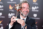 Pedro Hernández Santos receives the Special Award during Feroz Awards 2018 at Magarinos Complex in Madrid, Spain. January 22, 2018. (ALTERPHOTOS/Borja B.Hojas)