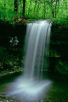 Unnamed waterfall caused by flooding<br /> Graham Cave State Park<br /> Montgomery County<br /> Missouri