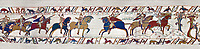 11th Century Medieval Bayeux Tapestry - Scene 48 - Scene 49 - William is told that the Saxon army is close. Battle of Hastings 1066