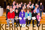 Pioneer Jubilee awards  at St. Johns Church Tralee Presented by Fr. Bernard Healy on Saturday. Pictured Denis Moylan, Tralee, (Gold) Ann Hobbert, (Gold), Fr. Bernard Healy, Ann Ryle, Tralee, (Silver), Derry O'Mahony, Tralee, (60 year Diploma) with Members and families of Pioneers
