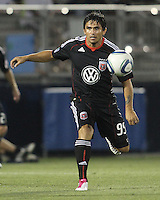 Jaime Moreno #99 of D.C. United during a US Open Cup match against the Harrisburg City Islanders at the Maryland Soccerplex on July 21 2010, in Boyds, Maryland. United won 2-0.