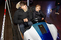Pictured: Dan James of Swansea City with children at Winter wonderland Swansea, in Swansea, Wales, UK. Wednesday 19 December 2018