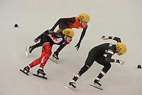 OLYMPICS: SOCHI: Iceberg Skating Palace, 13-02-2014, Shorttrack, 500m Relay Ladies, Semifinals, Marianne St-Gelais (#108 | CAN), Jorien ter Mors (#142 | NED), Arianna Fontana (#124 | ITA), ©photo Martin de Jong