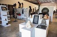 Haiti, Port-au-Prince. Show room for DOT, artisan products produced by Paula Coles. In conjunction with Donna Karan.