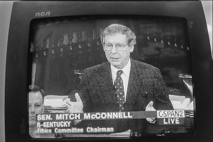 Sen. Mitch McConnell, R-Ky. 1997 (Photo by CQ Roll Call via Getty Images)
