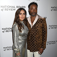 08 January 2020 - New York, New York - Salma Hayek and Billy Porter at the National Board of Review Annual Awards Gala, held at Cipriani 42nd Street. Photo Credit: LJ Fotos/AdMedia