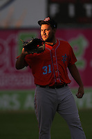 Danny Miranda #31 of the Inland Empire 66ers during a playoff game against the Lancaster JetHawks at The Hanger on September 7, 2014 in Lancaster, California. Lancaster defeated Inland Empire, 5-2. (Larry Goren/Four Seam Images)