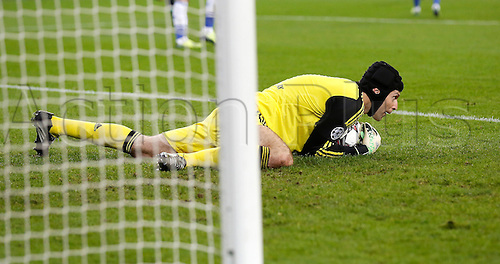 22.10.2013. Gelsenkirchen, Germany. Gelsenkirchen, Veltins-Arena, Chelsea's  goalkeeper Petr Cech during the match between FC Schalke 04 vs. Chelsea London in the champions league season 2013/2014.