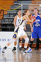 28 November 2010:  FIU forward Liene Jekabsone (33) passes the ball in the first half as the FIU Golden Panthers defeated the Indiana State Sycamores, 68-47, to win the 16th annual FIU Thanksgiving Classic at the U.S. Century Bank Arena in Miami, Florida.