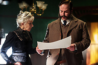 Helen Mirren &amp; Angus Sampson<br /> Winchester (2018) <br /> *Filmstill - Editorial Use Only*<br /> CAP/RFS<br /> Image supplied by Capital Pictures