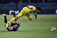 Borja Valero Inter, M. Trigueros Villarreal <br /> San Benedetto del Tronto 06-08-2017 <br /> Football Friendly Match  <br /> Inter - Villarreal Foto Andrea Staccioli Insidefoto