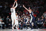 Portland Trail Blazers center Jusuf Nurkic (27) shoots over Denver Nuggets center Nikola Jokic (15) in the first half at Moda Center. <br /> Photo by Jaime Valdez