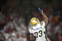 STANFORD, CA-NOVEMBER 30, 2012 - Jonathan Franklin celebrates a touchdown during the PAC-12 Championship at Stanford Stadium. The Stanford Cardinal advances to the Rose Bowl with a 27-24 win over the UCLA Bruins.