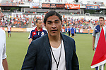 12 June 2013: Chivas Director of Soccer Juan Francisco (Paco) Palencia (MEX). The North American Soccer League's Carolina RailHawks hosted Major League Soccer's CD Chivas USA at WakeMed Stadium in Cary, NC in a 2013 Lamar Hunt U.S. Open Cup fourth round game. Carolina won the game 3-1 after extra time.