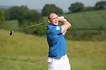 ISPS Handa Wales Open 2012.Former England rugby captain Mike Tindall teeing off on the 1st hole in the Pro-Am tournament...30.05.12.©Steve Pope