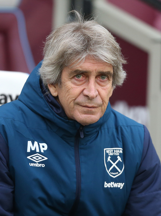 West Ham United manager Manuel Pellegrini <br /> <br /> Photographer Rob Newell/CameraSport<br /> <br /> Emirates FA Cup Third Round - West Ham United v Birmingham City - Saturday 5th January 2019 - London Stadium - London<br />  <br /> World Copyright &copy; 2019 CameraSport. All rights reserved. 43 Linden Ave. Countesthorpe. Leicester. England. LE8 5PG - Tel: +44 (0) 116 277 4147 - admin@camerasport.com - www.camerasport.com