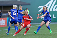 Portland, OR - Saturday May 06, 2017: Amandine Henry, Beverly Yanez during a regular season National Women's Soccer League (NWSL) match between the Portland Thorns FC and the Chicago Red Stars at Providence Park.