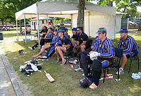 CBHS players wait their turn to bat during the Secondary School Boys' First XI Cup national cricket finals match between Christchurch Boys' High School and Palmerston North Boys' High School at Fitzherbert Park in Palmerston North, New Zealand on Friday, 8 December 2017. Photo: Dave Lintott / lintottphoto.co.nz