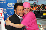 "Don Diamont and fan Donna Baker - The Bold and The Beautiful Don Diamont signed his book ""My Seven Sons and How We Raised Each Other""  - They only drive me crazy 30% of the time - for fans after a Q and A on May 31, 2018 at Books & Greetings in Northvale, New Jersey.  (Photo by Sue Coflin/Max Photo)"