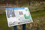 Information board for the Pliocene forest planted at Sutton Knoll SSSI geological site, Sutton, Suffolk, England