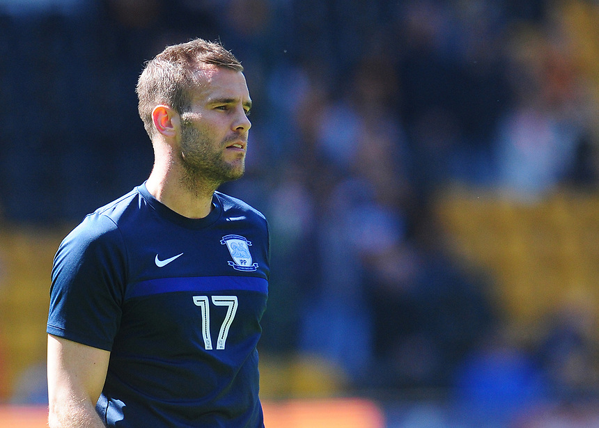 Preston North End's Tommy Spurr<br /> <br /> Photographer Kevin Barnes/CameraSport<br /> <br /> The EFL Sky Bet Championship - Wolverhampton Wanderers v Preston North End - Sunday 7th May 2017 - Molineux Stadium <br /> <br /> World Copyright &copy; 2017 CameraSport. All rights reserved. 43 Linden Ave. Countesthorpe. Leicester. England. LE8 5PG - Tel: +44 (0) 116 277 4147 - admin@camerasport.com - www.camerasport.com