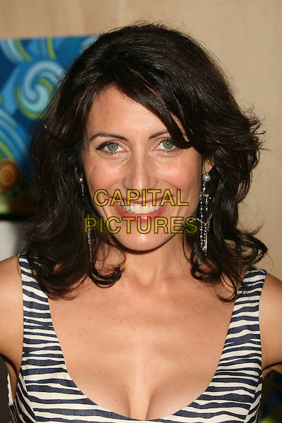LISA EDELSTEIN.FOX 2007 Summer All-Star TCA Press Tour Party at Pacific Park on the Santa Monica Pier, Santa Monica, California, USA..July 23rd, 2007.headshot portrait cleavage black white zebra print striped stripes .CAP/ADM/BP.©Byron Purvis/AdMedia/Capital Pictures