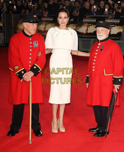 LONDON, ENGLAND - NOVEMBER 25: Angelina Jolie attends the UK Premiere of 'Unbroken' at Odeon Leicester Square on November 25, 2014 in London, England<br /> CAP/ROS<br /> &copy;Steve Ross/Capital Pictures