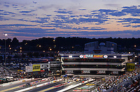Sept. 14, 2012; Concord, NC, USA: Overall view of zMax Dragway as the sun sets during NHRA qualifying for the O'Reilly Auto Parts Nationals. Mandatory Credit: Mark J. Rebilas-