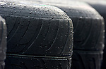02 Apr 2009, Kuala Lumpur, Malaysia ---   Rain drops are seen on a tyre at the paddock during the 2009 Fia Formula One Malasyan Grand Prix at the Sepang circuit near Kuala Lumpur. Photo by Victor Fraile --- Image by © Victor Fraile/Corbis