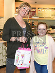 Caitlin Loughran met Rachel Allen at the official opening of O'Briens Sandwich bar in Scotch Hall. Photo:Colin Bell/pressphotos.ie