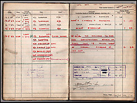 BNPS.co.uk (01202 558833)<br /> Pic: IAA/BNPS<br /> <br /> Sumpters logbook entry for the famous Dambusters raid in May 1943.<br /> <br /> A fascinating and historic logbook and photographs from a Dambuster's hero who also went on many other famous raids during WW2 has come light. <br /> <br /> The remarkable collection belonged to Flight Sergeant Leonard Sumpter who was a bomb aimer on the iconic Dam's mission, and put together a unique scrapbook of his thrilling wartime career in Bomber Command's most famous squadron.<br /> <br /> As well as the bouncing bomb sortie, the ace bomb aimer also dropped Barnes Wallis's later invention's of massive Tallboy and Grand Slam 'bunker busting' bombs, the largest non nuclear warheads of the war.<br /> <br /> Only the elite 617 squadron were entrusted with delivering these hugely valuable weapons onto their vital targets, that included U-boat pens, V2 rocket sites and even Hitler's Bavarian hideaway the Eagles Nest.<br /> <br /> Also included are pictures Mr Sumpter took in 1947 during a summer excusion to visit some of the sites he had attacked during the conflict.<br /> <br /> Flt Sgt Sumpter's daughter has decided to put the photo album up for auction together with his logbook and his personal scrapbook.