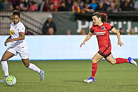 Portland, Oregon - Sunday September 11, 2016: Portland Thorns FC forward Hayley Raso (21) during a regular season National Women's Soccer League (NWSL) match at Providence Park.
