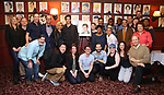 Andy Karl with family & friends during the Andy Karl Sardi's Portrait unveiling at Sardi's on May 31, 2017 in New York City.