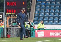 Wycombe Wanderers Manager Gareth Ainsworth plays keep ups as the ball comes out of play during his 200th game as a Manager during the Sky Bet League 2 match between Wycombe Wanderers and Stevenage at Adams Park, High Wycombe, England on 12 March 2016. Photo by Andy Rowland/PRiME Media Images.