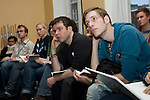 Delegates listen to a presentation at the Conference of Youth, COP 15, Denmark (©Robert vanWaarden