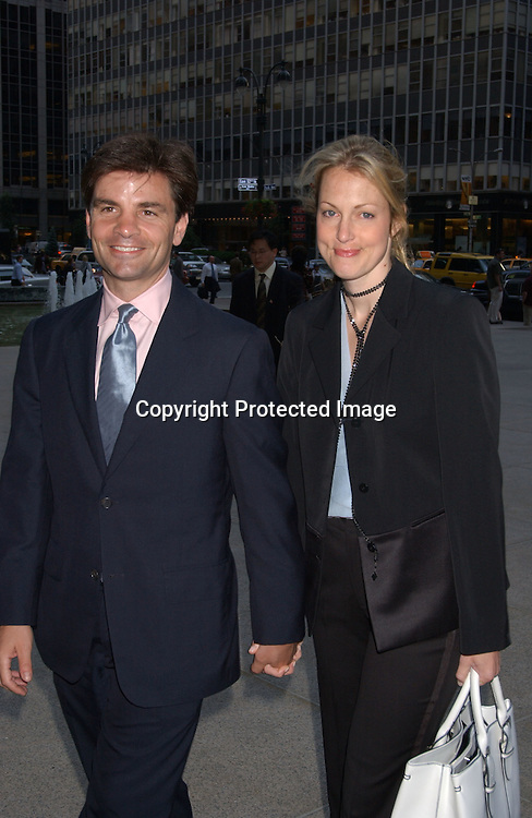 George Stephanopoulos & wife Alexandra Wentworth                               ..at Hillary Clinton's book party at the 4 Season's Restaurant ..on June 16,2003 in NYC.                                                            Photo by Robin Platzer, Twin Images