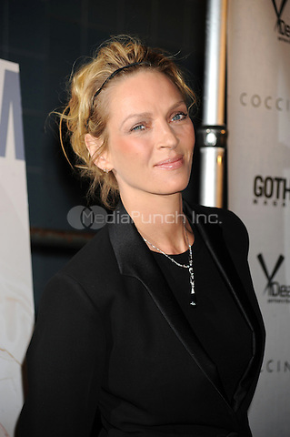 Uma Thurman at the film premiere for Motherhood at The School of Visual Arts Theater in New York City. October 14, 2009.. Credit: Dennis Van Tine/MediaPunch