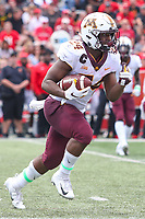 College Park, MD - September 22, 2018:  Minnesota Golden Gophers running back Mohamed Ibrahim (24) in action during the game between Minnesota and Maryland at  Capital One Field at Maryland Stadium in College Park, MD.  (Photo by Elliott Brown/Media Images International)