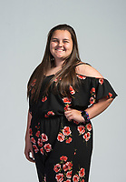 NWA Democrat-Gazette/BEN GOFF @NWABENGOFF<br /> Abigail Powlowski from Gentry High poses for a photo Wednesday, May 9, 2018, for Academic All Stars at the NWA Democrat-Gazette office in Springdale.