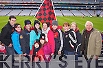 Kevin O'Leary Louise Daly, Shane Murphy Carmel O'Leary Eoin Llywelyn, Niamh Llywelyn, Mary O'Leary, Maurice Kelly, Amanda McCarthy, Una Harrington and Martin O'Brien (Kenmare) pictured at Croke Park on Sunday for the Kenmare vs Ballinasloe final.
